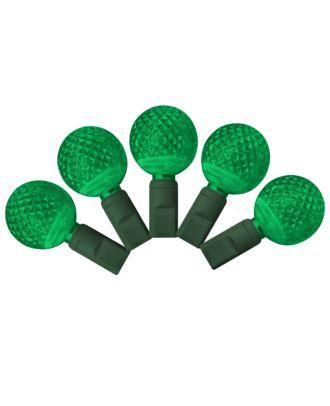 G25 green LED Christmas Lights 50 bulbs