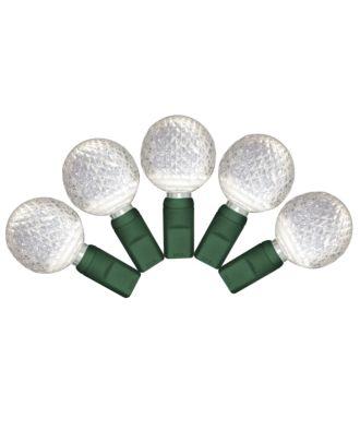 G25 pure white LED Christmas Lights 50 bulbs