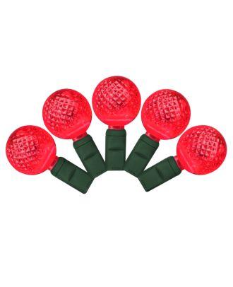 G25 red LED Christmas Lights 50 bulbs