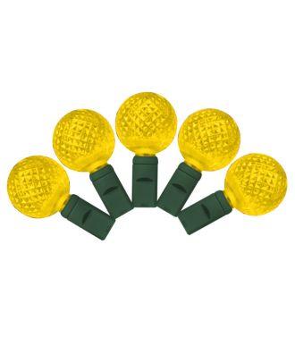 G25 yellow LED Christmas Lights 50 bulbs