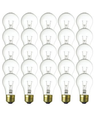 Warm White A15-25w Patio Light String replacement bulbs 25 count