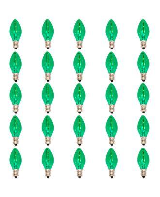 25 led filament Green Tinted C7 bulbs