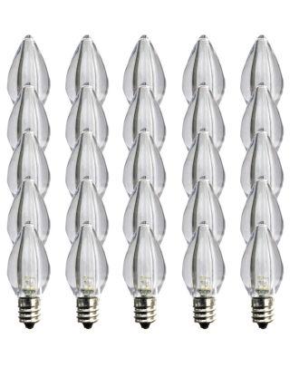 (25) C7 Warm White Smooth finish LED Bulb