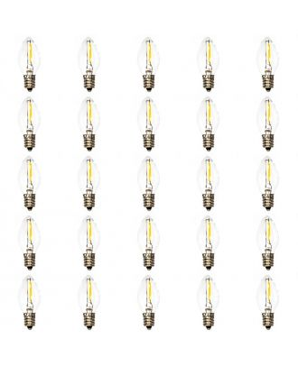 25 led filament Warm White  C7 bulbs