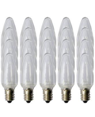 Box of 25 C7 warm white Smooth finish LED bulbs