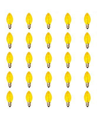 25 led filament Yellow Tinted C7 bulbs