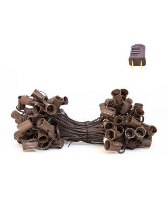 C9 Brown Light String SPT1 - Brown strand 100 sockets
