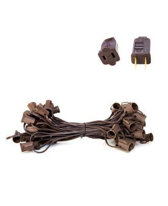 C9 Brown Light String SPT1 - Brown strand 50 sockets