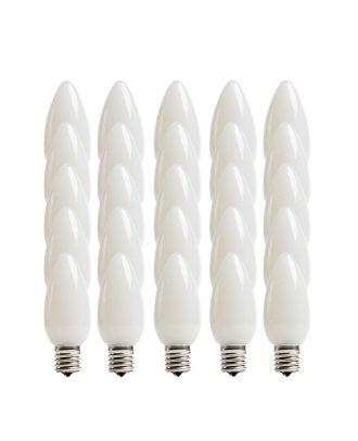 Opaque Cool White C9 LED Bulbs - Box of 25