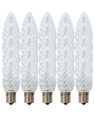 Box of 25 of Pure White C9 LED replacement bulbs
