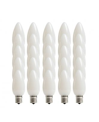Opaque Pure White C9 LED Bulbs - Box of 25