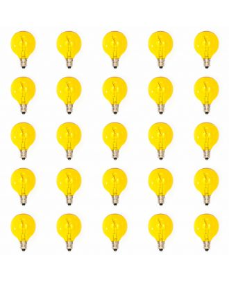 25 led filament Yellow Tinted G40 bulbs