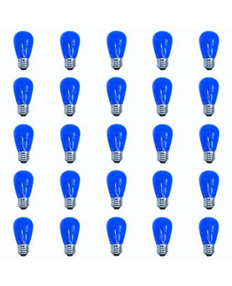 Dark Blue S14 Led filament Patio Light String replacement bulbs 25 count