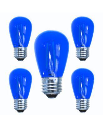 Dark Blue S14 LED Filament Bulbs - Box of 5