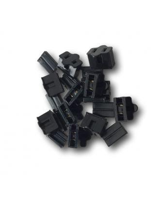 10 black Spt-1 female plug